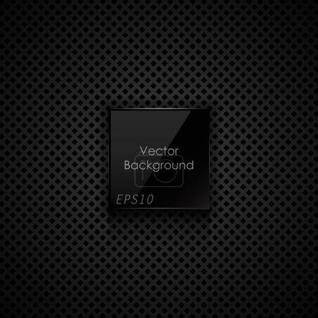 Illustration pour Texture noire. Fond vectoriel - image libre de droit