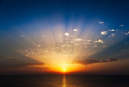 Amazing sunrise on the sea.