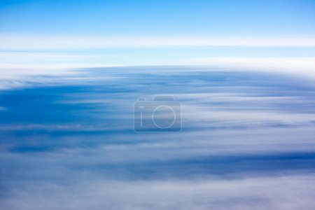 Natural background: clouds see from airplane.