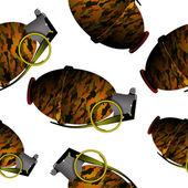 Hand grenade pattern abstract seamless texture vector art illustration image contains transparency
