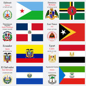 world flags and capitals set 7