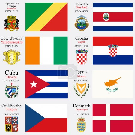 world flags and capitals set 6