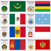 world flags and capitals set 15