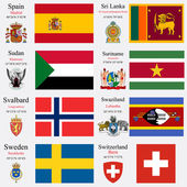 world flags and capitals set 23