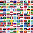 Alphabetical world flags complete collection, isol...