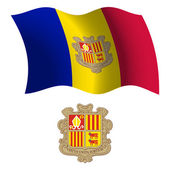 andorra wavy flag and coat