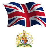 united kingdom wavy flag and coat