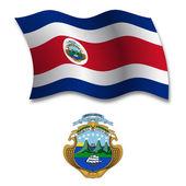 Costa rica textured wavy flag vector