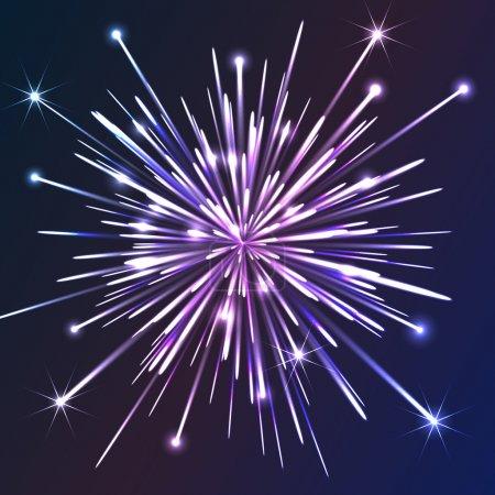 White vector fireworks