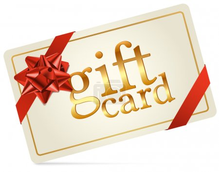 Gift Card with Red Gift Bow