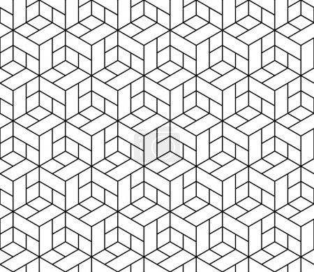 Illustration for Seamless geometric pattern with cubes. - Royalty Free Image
