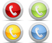 Coloured phone vector icons