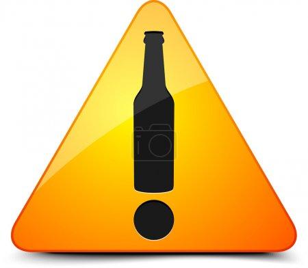 Illustration for Beer Warning Sign - Royalty Free Image