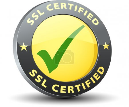 SSL Certified button sign...