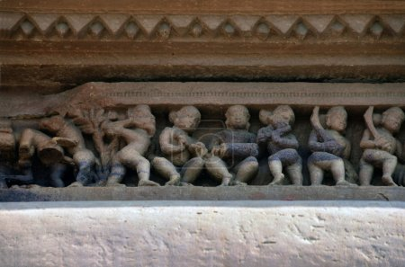 Carvings on Temple walls at Khajuraho AD 930-950
