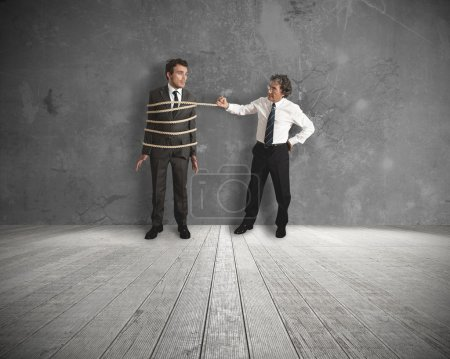 Photo for Concept of unfair competition in business - Royalty Free Image