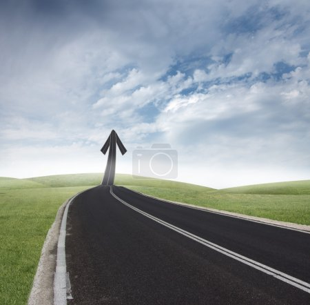 Photo for Concept of way of the success - Royalty Free Image