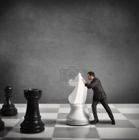 Photo for Concept of Strategy of a businessman - Royalty Free Image