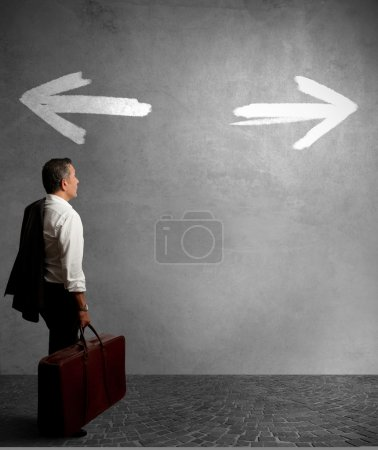 Photo for Businessman must choose between different destinations - Royalty Free Image