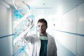 Lékař a dotykové obrazovky