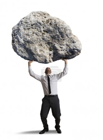 Photo for Concept of the weight of the stress - Royalty Free Image