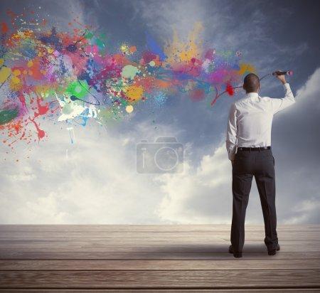 Photo pour Concept d'une création d'entreprise d'un gestionnaire - image libre de droit