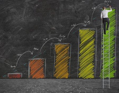 Photo pour Concept de statistiques de prévision de croissance - image libre de droit