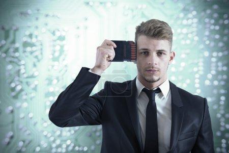 Businessman memory upgrade