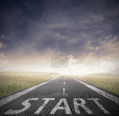 Photo for Concept of start straight for business - Royalty Free Image