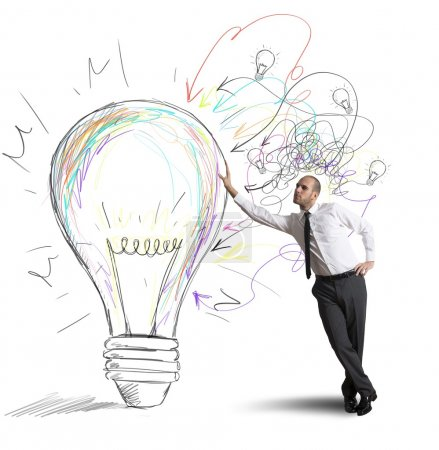 Photo for Concept of businessman with a creative big idea - Royalty Free Image