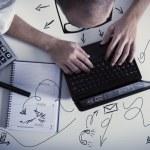 Concept of multitasking businessman a...