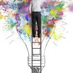 Concept of a big creative business idea...