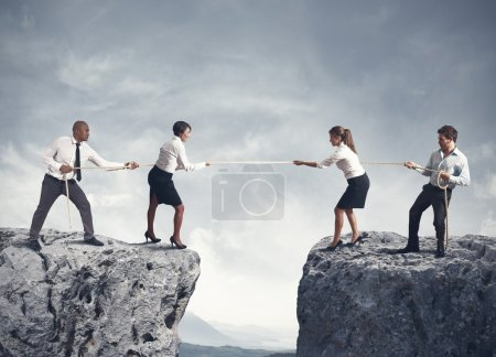 Photo for Concept of team and competition in business - Royalty Free Image