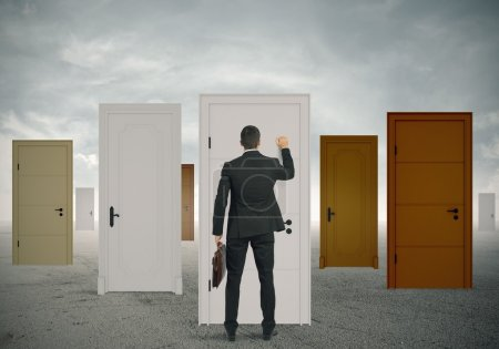 Photo for Concept of opportunity of a businessman - Royalty Free Image