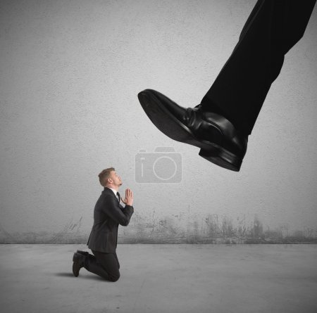 Photo for Concept of businessman fired by the boss - Royalty Free Image