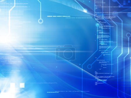 Photo for Programming and technology concept background - Royalty Free Image