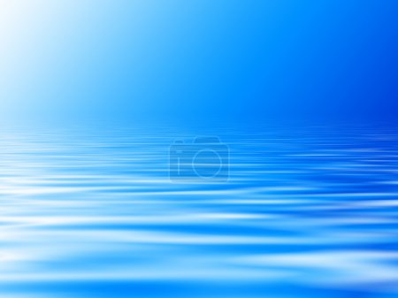 Abstract blue horizon with waves