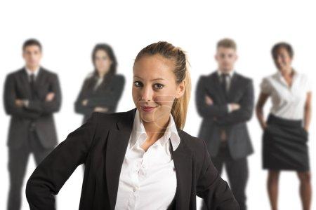 Photo pour Concept d'équipe d'affaires réussie avec des gens d'affaires - image libre de droit