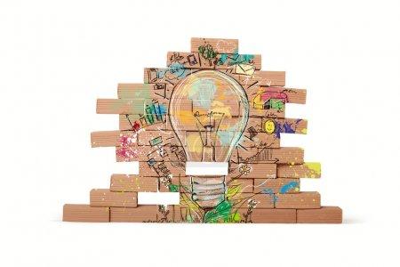 Foto de Concepto de bosquejo de la idea de negocio creativo - Imagen libre de derechos