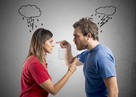 Photo pour Concept de discussion entre mari et femme - image libre de droit