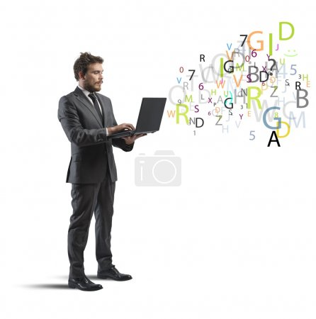 Businessman and internet concept