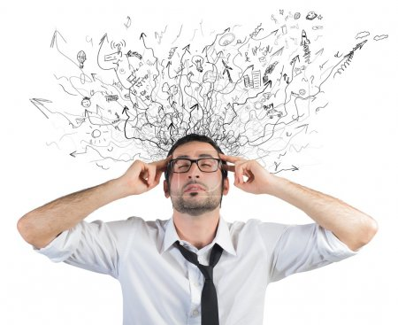 Photo for Concept of stress and confusion of a businessman - Royalty Free Image