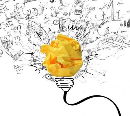 Photo pour Concept du nouveau concept d'idée et de l'innovation - image libre de droit