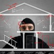 Thief apartment studying security system of a new ...