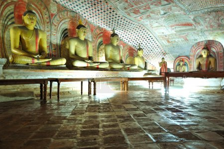 DAMBULLA - OCTOBER 15: Dambulla cave temple is the large cave te