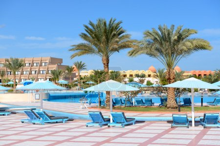 The swimming pool at luxury hotel, Hurghada, Egypt