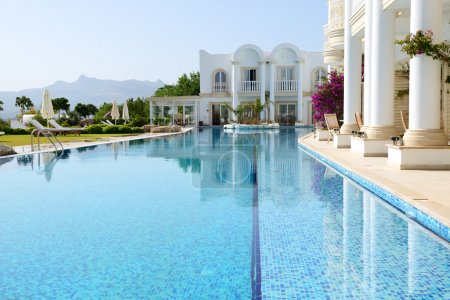 Photo for Swimming pool at luxury villa, Bodrum, Turkey - Royalty Free Image