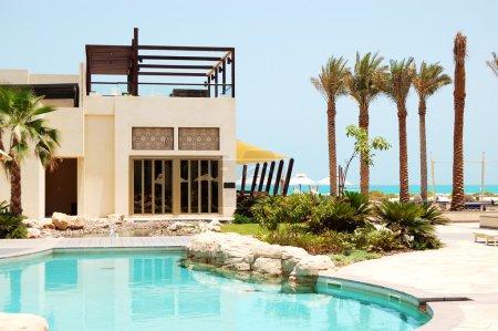 Swimming pool at the luxury villa, Saadiyat island, Abu Dhabi, U