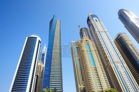 The modern skyscrapers in Dubai city, UAE