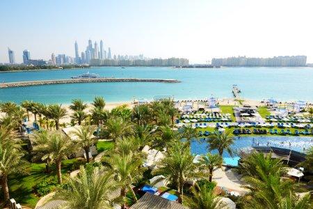 The modern luxury hotel on Palm Jumeirah man-made island, Dubai,